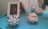Caja pinchos/caja geométrica_glazed ceramic/gold_12cmX12cm_12cmX11cm