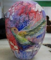 """""""Imaginer...""""_ceramic pastels/airbrush_16cmX22cm"""