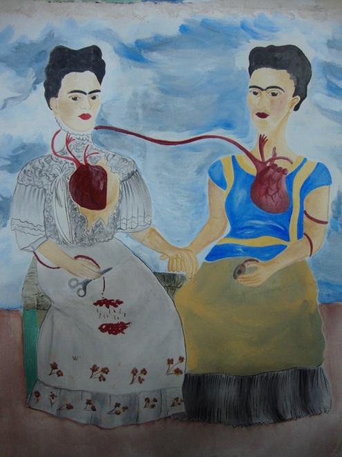 Las dos Frida_copy (original by Frida Kahlo)_mural fresco/Paris
