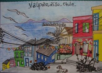 Saludos desde...Valparaíso_hand drawn postcard