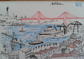 Saudaçoes de...Lisboa_hand drawn postcard
