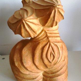 Mme Soufflé_unglazed stoneware_25cmX17cm
