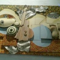 Picasso's nightmare_ceramic/wood/metal_120cmX70cm
