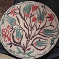 Plato de inspiración Iznik_glazed ceramic